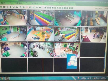 幼儿园监控摄像头施工完工