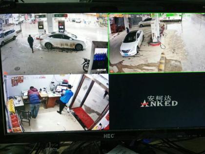 沙集北街诚信加油站安装监控